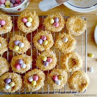 Toasted Coconut Bird's Nest Cookies
