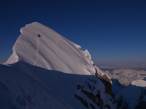 Photo: Near the summit of Mooses Tooth, Alaska