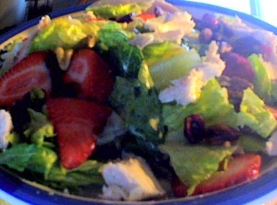 Fresh Nutty Salad W/ Strawberries Recipe