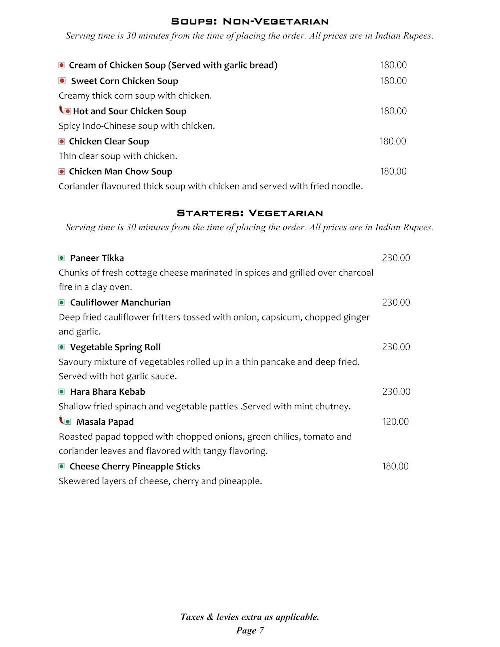 Cafe @ Elanza menu 6
