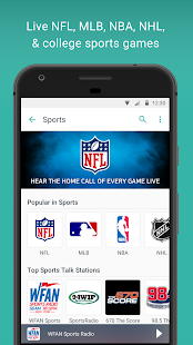 TuneIn Radio: Stream NFL, Sports, Music & Podcasts- screenshot thumbnail