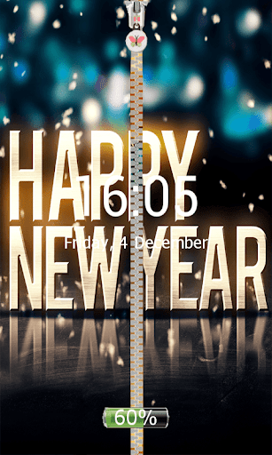 Happy New Year Zip Screen Lock