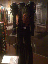 Photo: Brian Eno's old Roxy Music stage outfit, at the V&A
