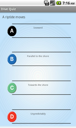 Dive Quiz for Scuba
