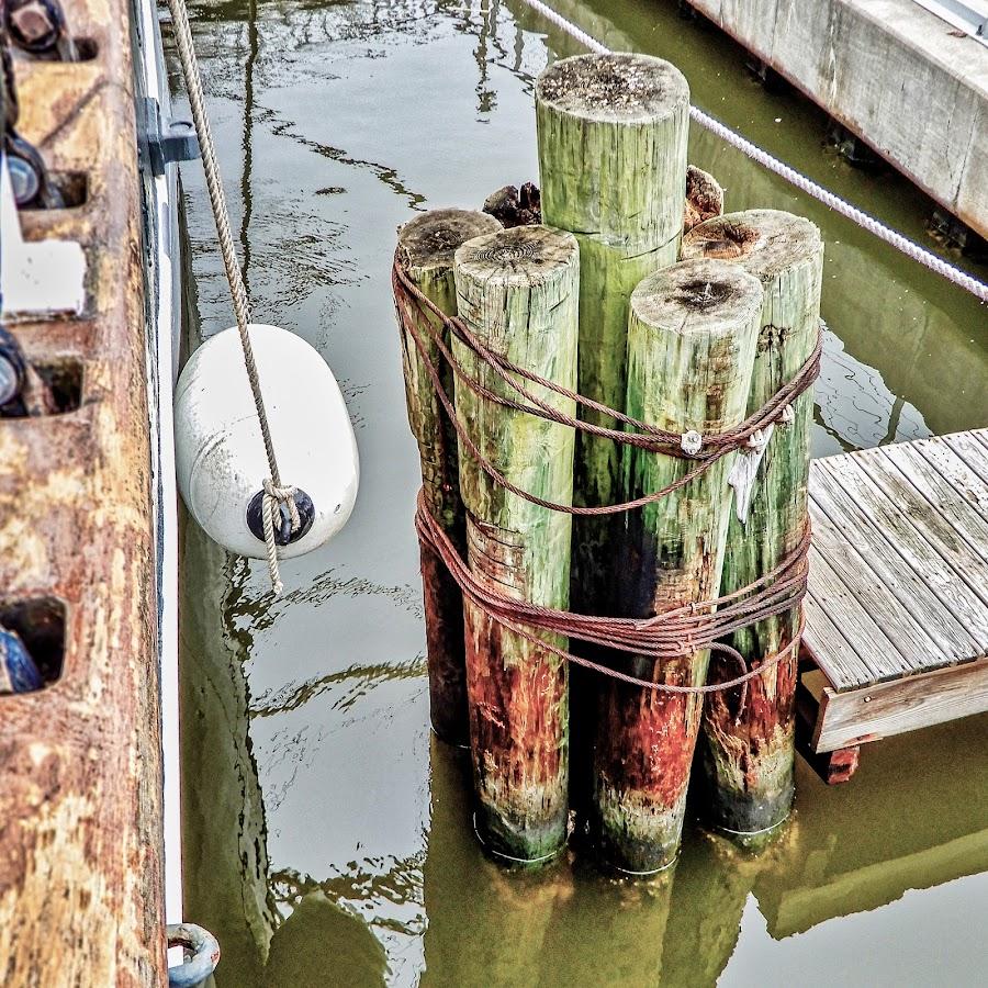 At the Pier by Richard Michael Lingo - Artistic Objects Other Objects ( artistic objects, pier, texas, logs, corpus christi )