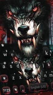 Scary Wolf Keyboard Theme - náhled