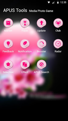 Pink Heart-APUS Launcher theme - screenshot