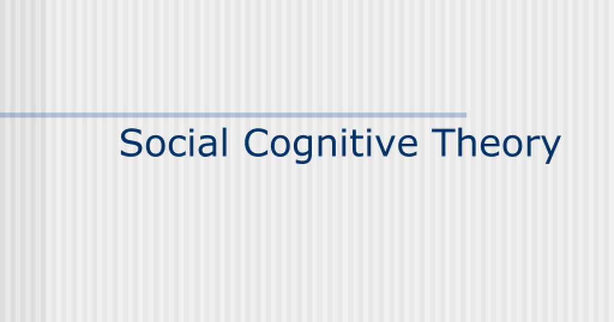 social cognitive theory constructs