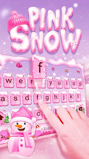 Pink Snow Keyboard Theme for PC