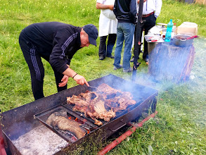 Photo: We also had barbecued lamb. Not an easy job to go through so much food :)