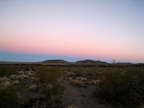 Photo: Leaving Lava Tubes to Kelso. Mornings bring colorful skies.