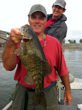 Photo: March 31, 2012 - Ron Swallow and friend Mark Bentley fishing with Richard Simms