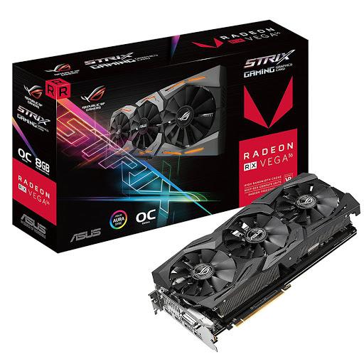 Card màn hình ASUS 8GB ROG Strix RX VEGA 56 O8G Gaming