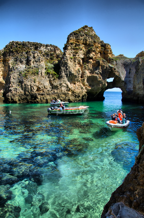 Ponta Piedade by Arjan Barendregt-Schuijffel - Landscapes Caves & Formations ( vacation, boats, algarve, summer, portugal, lagoa )