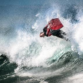 Hanging by Ten by Cameron Zohoori - Sports & Fitness Watersports ( mossel bay, wave, sports, ocean, bodyboard, flip )