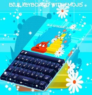 Modrá klávesnice s Emojis - náhled