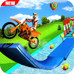 Impossible Racing Moto Bike 3D Icon