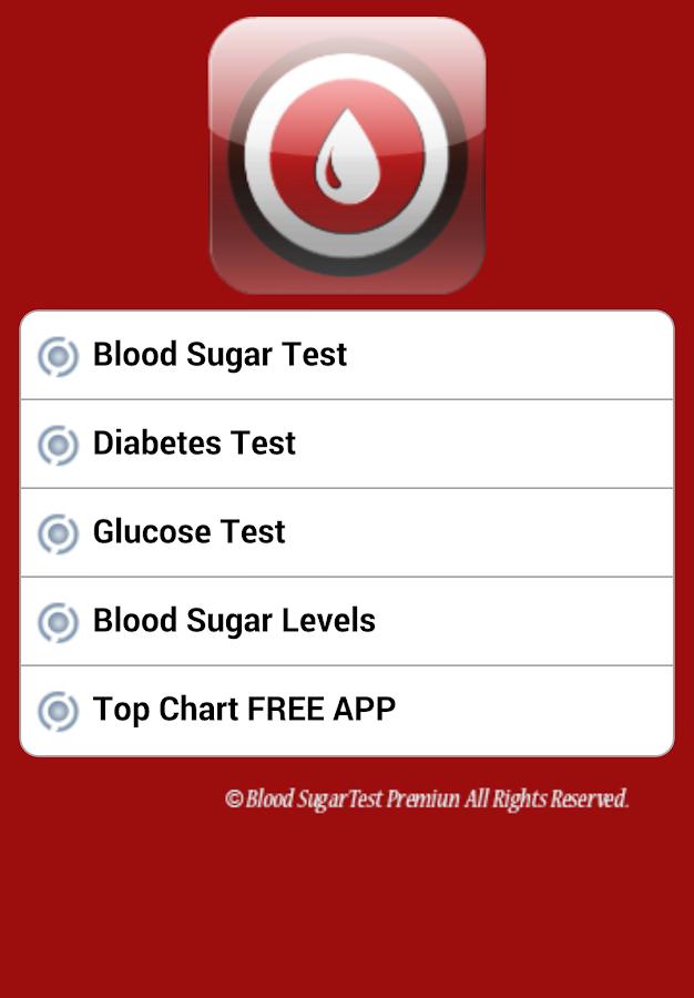 blood sugar test results chart