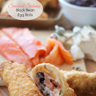 Smoked Salmon Black Bean Egg Rolls