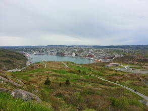 Photo: A wider vista of St John's Newfoundland.