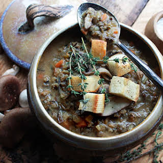 Wild Rice Mushroom Soup.
