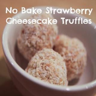 No Bake Strawberry Cheesecake Truffles