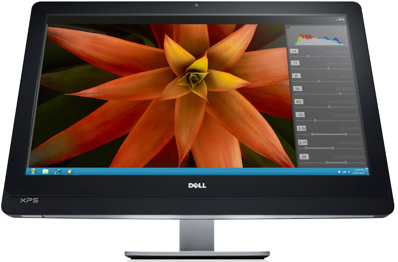 Photo: Dell XPS One 27 all-in-one Ivy Bridge desktop computer - front view.