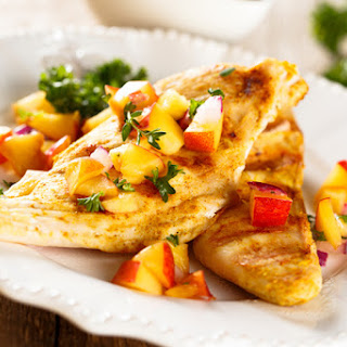 Daphne Oz's Grilled Chicken Paillards With Melon Salsa Fresca