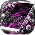 Color de rosa de neón Keyboard icon