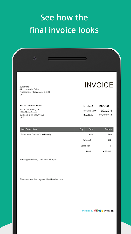 How To Make A Commercial Invoice Excel Free Invoice Generator  Android Apps On Google Play Practicount And Invoice Pdf with Shop Invoice Pdf Free Invoice Generator Screenshot Paypal Recurring Invoice Excel