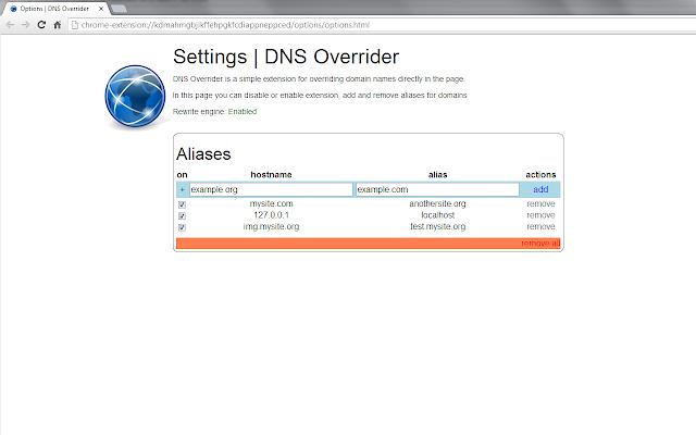 DNS Overrider