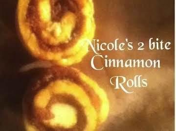 Nicole's 2 bite Cinnamon Rolls