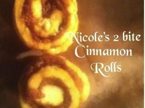 Nicole's 2 Bite Cinnamon Rolls Recipe
