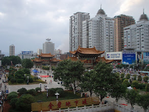 Photo: View from the hostel bar in Kunming
