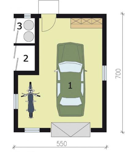 G170 - Rzut garażu