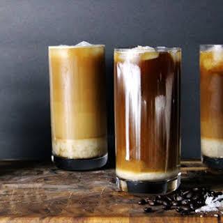 Iced Sea Salt Coffee (Cold Brewed).