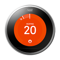 Nest thermostat temperature screen prevention