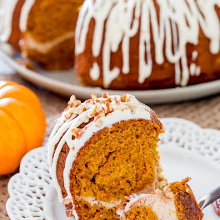 Pumpkin Bundt Cake with Cream Cheese Filling