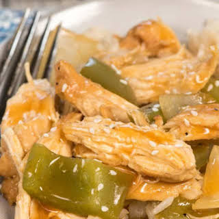 Pressure Cooker Shredded Sweet and Sour Chicken.