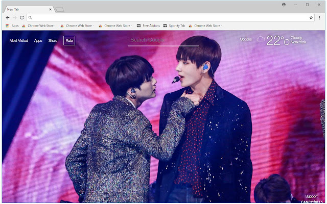 BTS V & Suga HD Wallpapers New Tab Themes