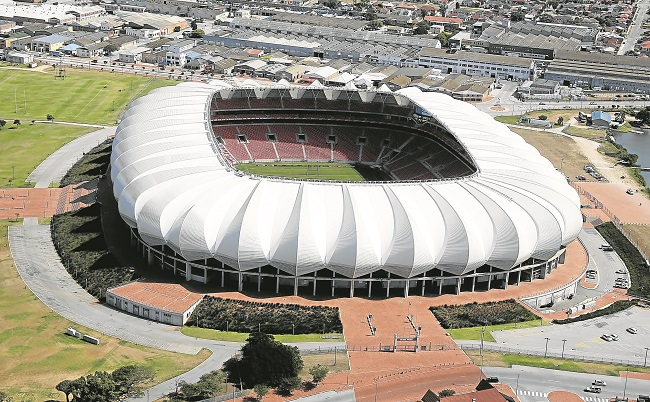 An aerial view of the Nelson Mandela Bay Stadium.