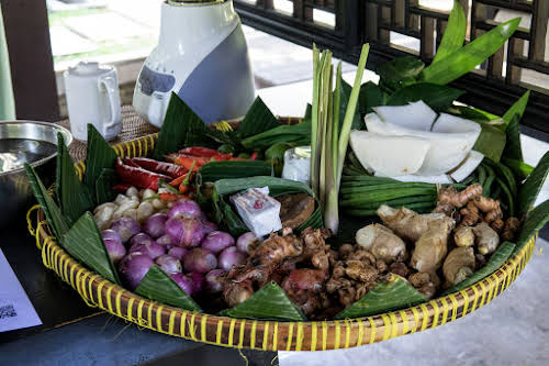 Indonesia. Bali Cooking Class. The main ingredients for Balinese Cuisine