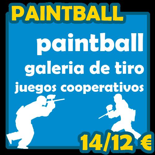 Programa de paintball y aventura para todas las edades