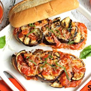 Grilled Eggplant Marinara Sandwiches Recipe