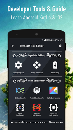 option & settings  : code snippets for developers screenshot 1