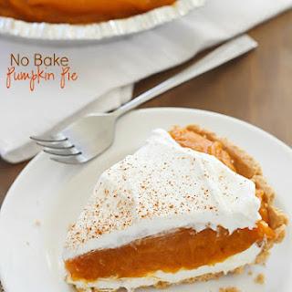 No Bake Pumpkin Pie.