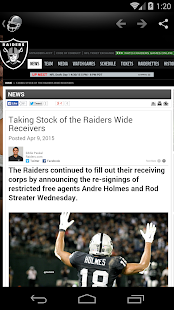 Oakland Football News - screenshot thumbnail
