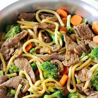 Hoisin Beef Noodle Stir Fry.