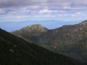 Photo: Look carefully to spot the hikers to the left of Little Haystack's summit.