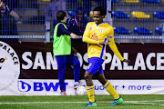 Bafana Bafana striker Percy Tau celebrates after scoring for his Belgian club Royale Union Saint-Gilloise in a Cup match to advance to the quarterfinals.